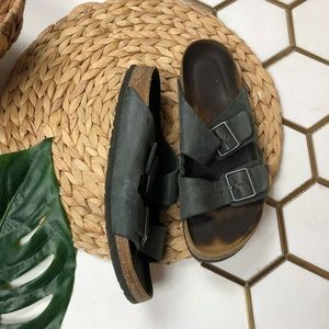 BIRKENSTOCK Arizona Dark Grey/Black Two Strap